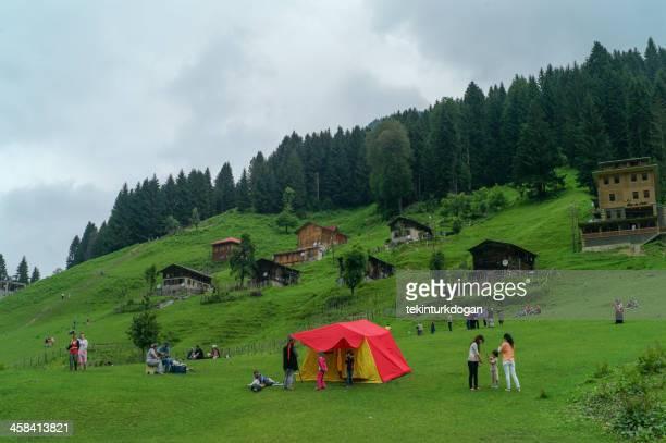 Leute Halten Sie ein Picknick an ayder plateau von rize Türkei