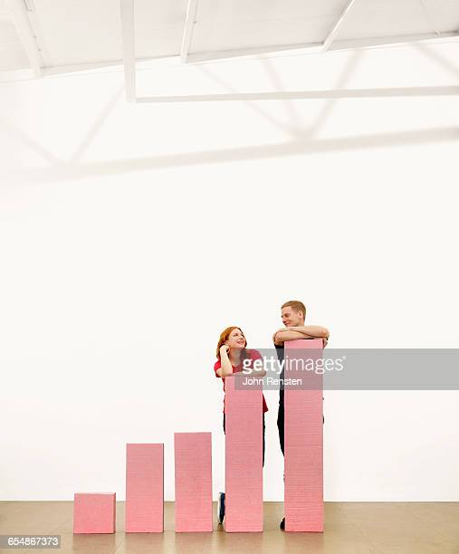 people doing puzzles with oversized props - redhead stock pictures, royalty-free photos & images