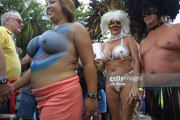 Image contains nudity 396521 13 People dress in costumes and body paint as they participate October 27 2001 in the Key West Florida Fantasy Fest The...