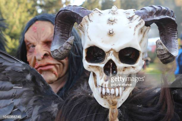 People dressed as witches and devils celebrating the 'Walpurgisfest' in Schierke Germany 30 April 2017 At many locations across the Harz people...
