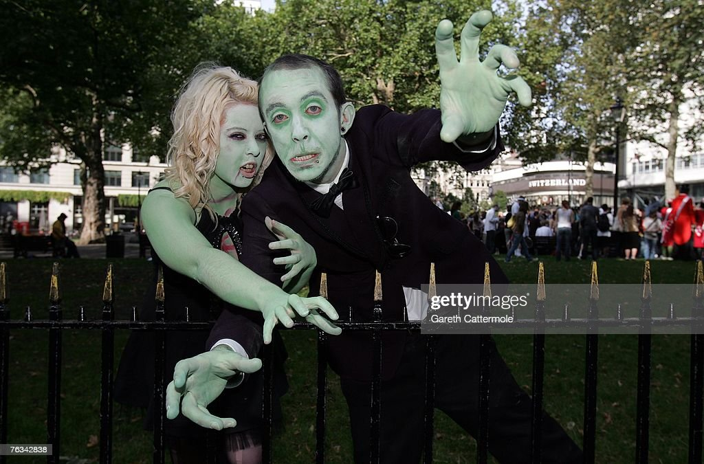 Zombie Walk World Record Attempt : News Photo