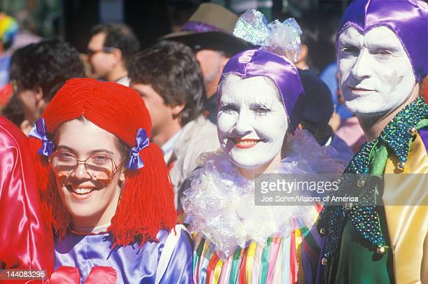 People Dressed in Mardi Gras Costumes New Orleans Louisiana