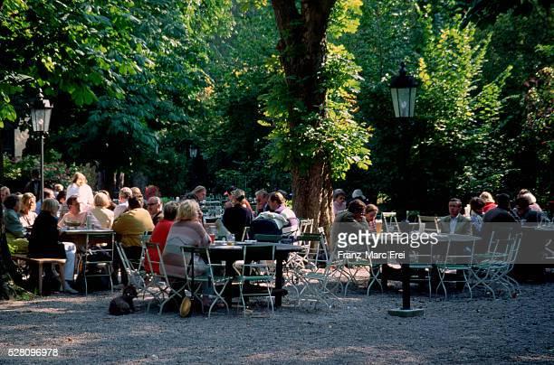 People Drinking in Gruental, Beer Garden, Munich
