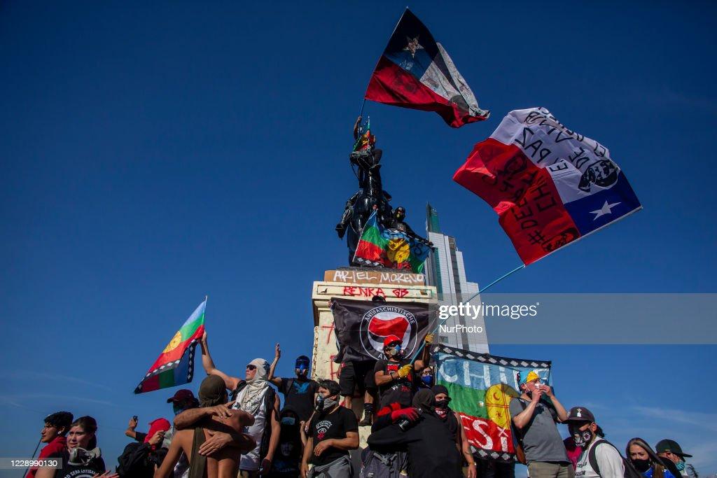 Anti-Government protest In Santiago De Chile : News Photo