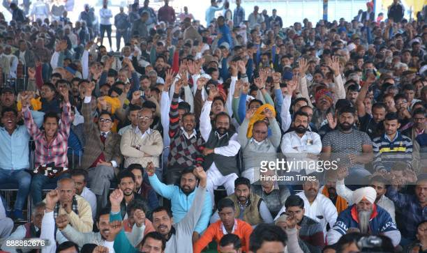 People during a Swabhiman Rally on December 9 2017 in Panchkula India