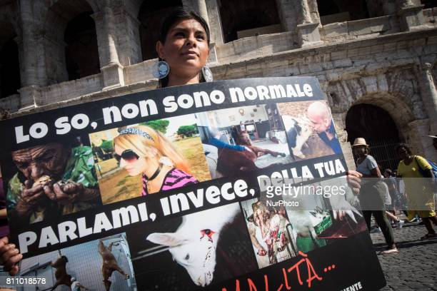 People during an Animal Movement Demonstration in Rome, Italy, on July 08. The animal movement ,founded by Michela Vittoria Brambilla last May 20...