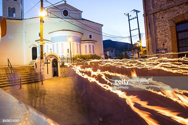 People during Prometheia 2016 Festival in Litohoro Greece on July 8 2016 Prometheia Festival is a festival dedicated to Promitheus it is a festival...