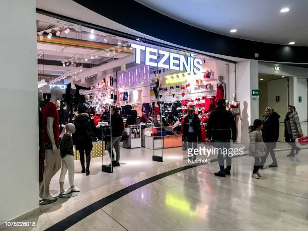 People during the Christmas holidays at the shopping centers for gifts and purchases on 27 December 2018
