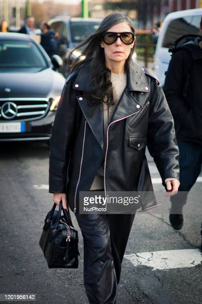 People during the during Milan Fashion Week Fall/Winter 20202021 on February 19 2020 in Milan Italy
