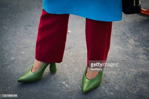 People during the during Milan Fashion Week Fall/Winter 2020-2021, on February 19, 2020 in Milan, Italy.