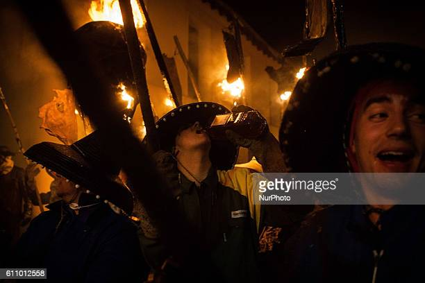People during the El Vítor Procession in Mayorga Spain on September 27 2016 Every year on 27 September the feast of Santo Toribio de Mogroviejo is...