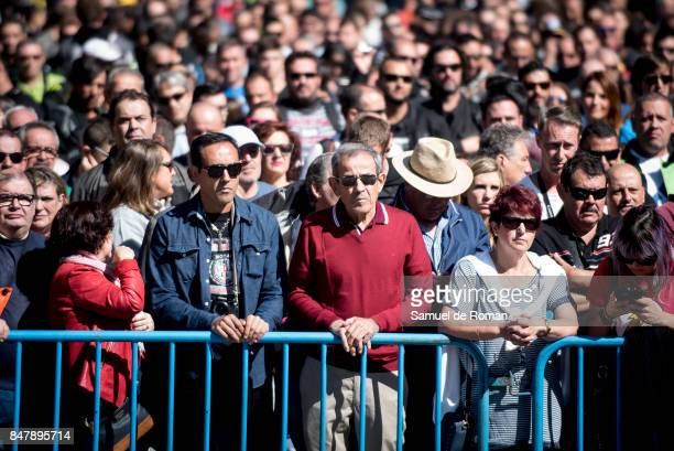 People during the Funeral Tribute For Angel Nieto in Madrid on September 16 2017 in Madrid Spain