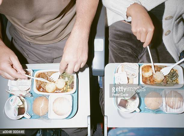 People Eating Airline Food