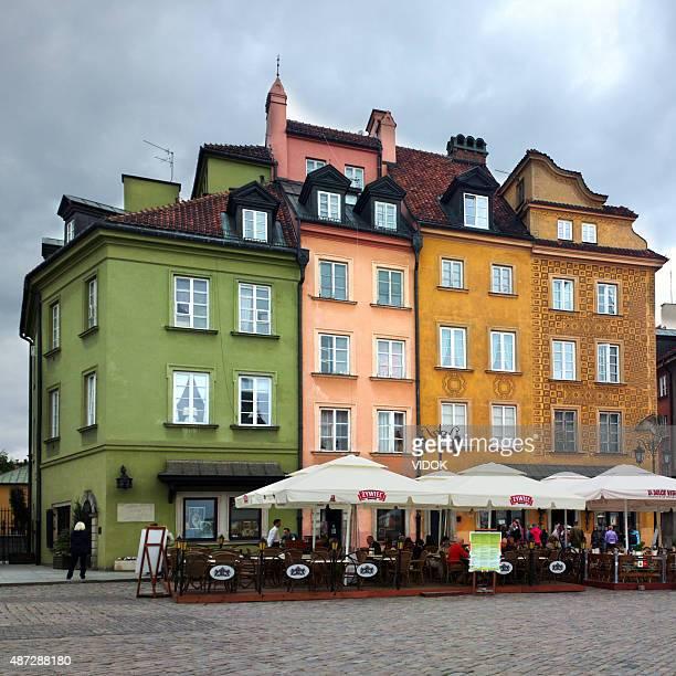 Menschen Essen im Café, in der Altstadt von Warschau