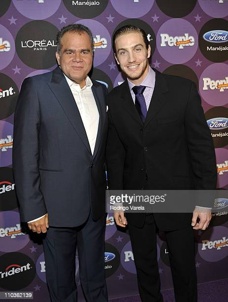 People en Espanol Managing Editor Armando Correa and Eugenio Siller attend People En Espanol Celebrating The '2008 Stars of the Year' Issue at Grass...