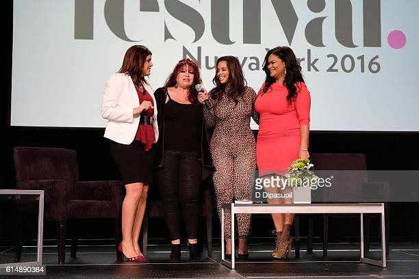 People en Espanol Senior Writer Lena Hansen Iris Chacon Dascha Polanco and Christina Mendez speak on stage during the 5th Annual Festival PEOPLE En...