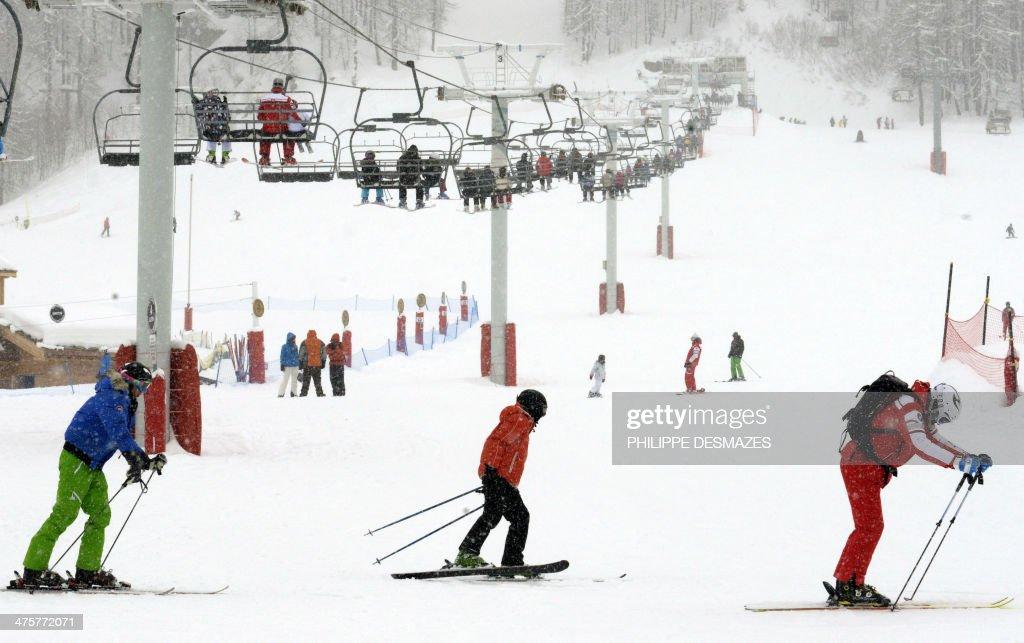 FRANCE-SKI-LEISURE-TOURISM-FEATURE : News Photo
