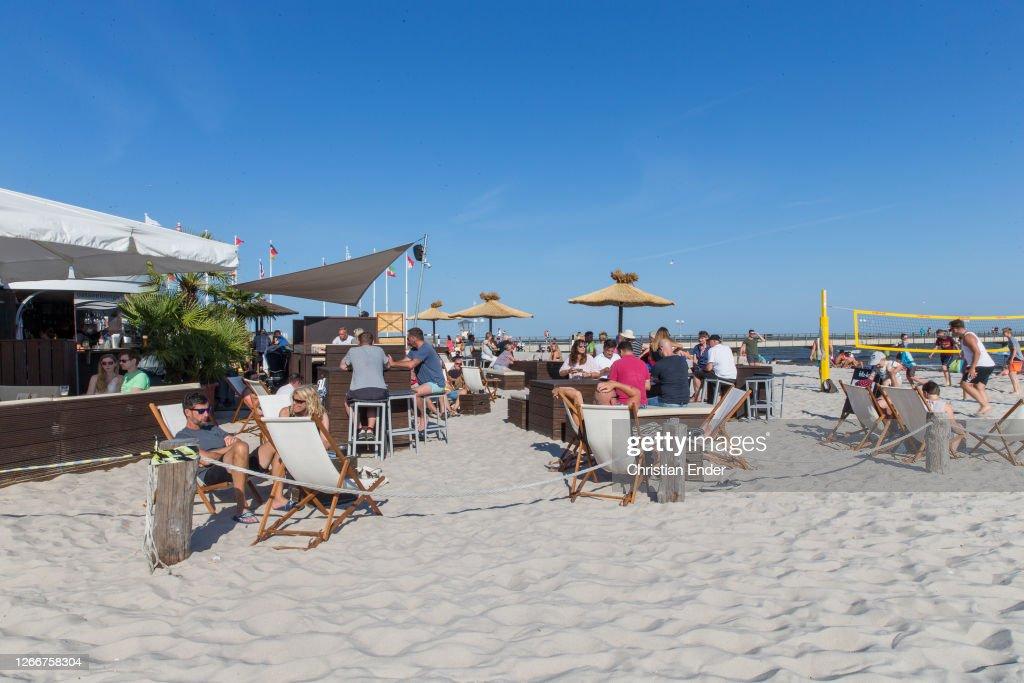 Baltic Sea Coast During The Coronavirus Crisis In Summer : Nachrichtenfoto