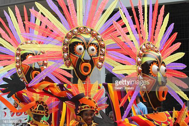 People enjoy in the Republic Bank Childen's Carnival Parade in Port of Spain Trinidad on February 9 2013