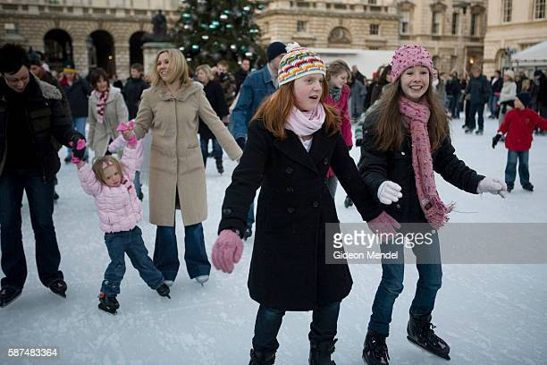 People enjoy skating at the Somerset House Ice Rink. Since opening in 2000 it has been acknowledged around the world as a premier winter attraction...