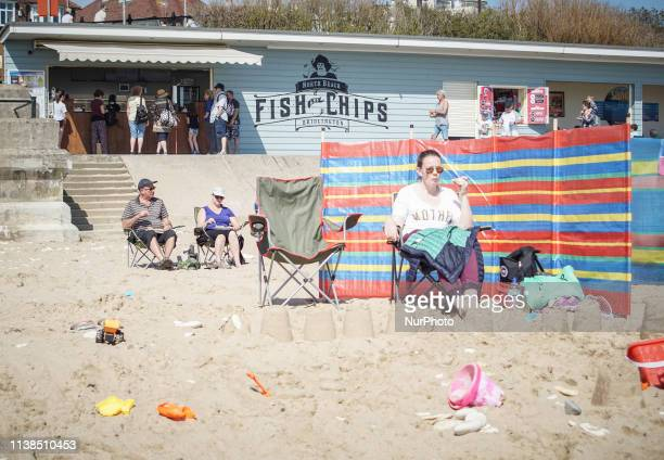 People enjoy the fine weather on Easter Sunday , in Bridlington on 21 April 2019. The Met office has forecast a fine weather and warm Easter holiday...