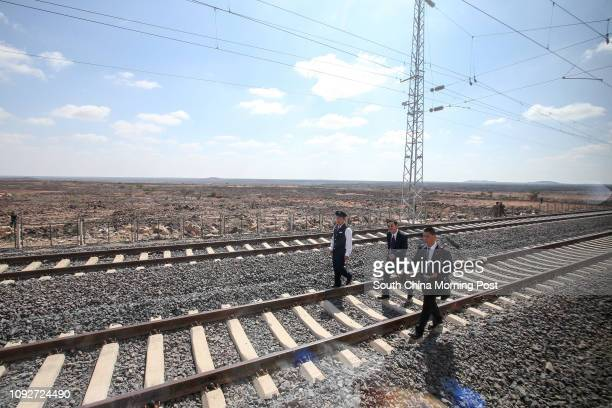 People enjoy the first departure of the Djibouti - Addis Ababa Railway at Gare De Nagad Station. The railway is supported by China Civil Engineering...