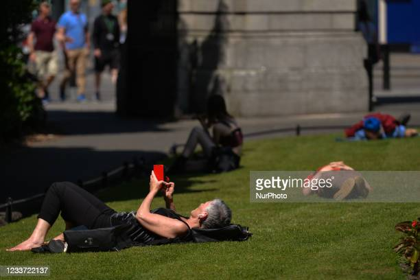 People enjoy the nice weather in St. Stephens Green in Dublin. Ireland is set see the hottest few days of the year this week, as temperatures are due...