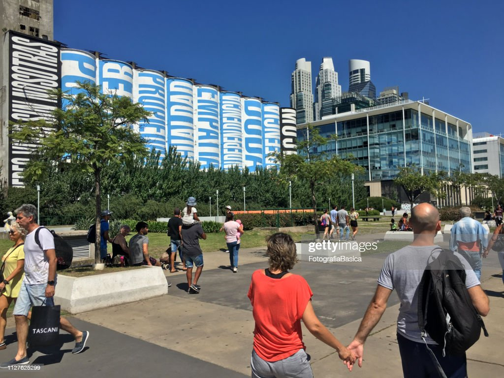 People enjoying afternoon in Puerto Madero : Stock Photo