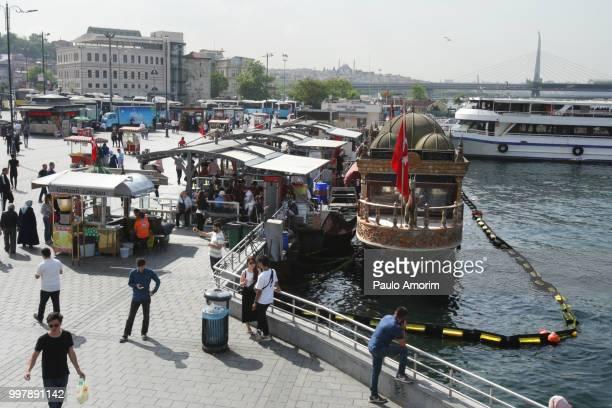 People Enjoying at Eminomu District of Istanbul,Turkey