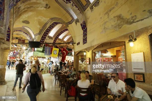 People Enjoying at Grand Bazaar Market in Istanbul,Turkey