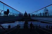 People Enjoying at Millenium bridge in London
