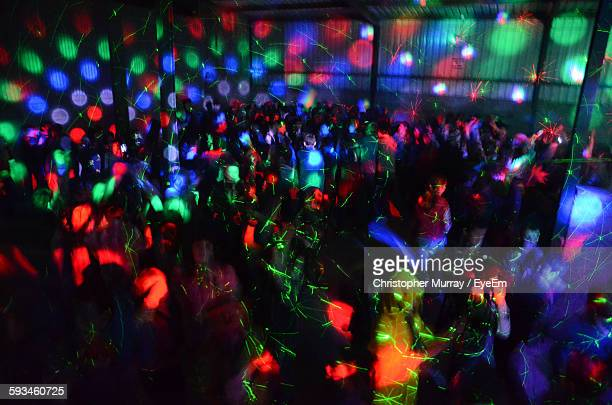 People Enjoying At Nightclub