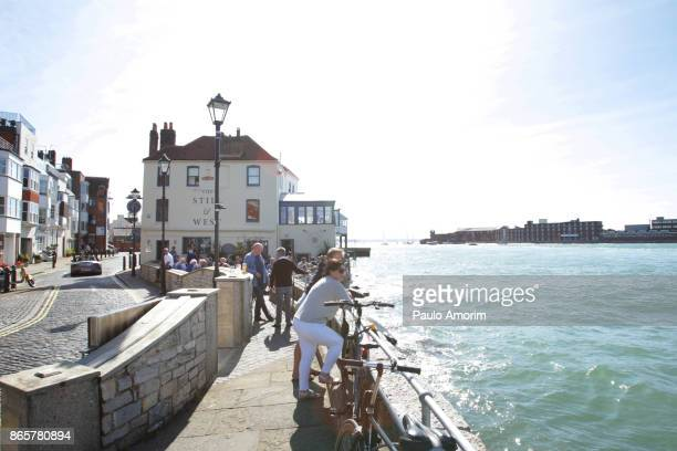 People Enjoying at Old Portsmouth in United Kingdom