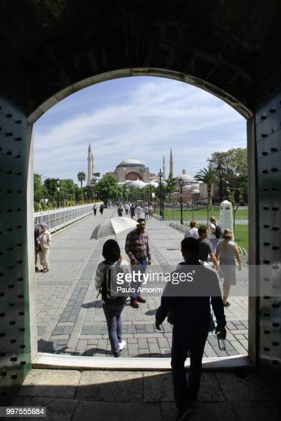 People Enjoying at the Sultanahmet Square in Istanbul
