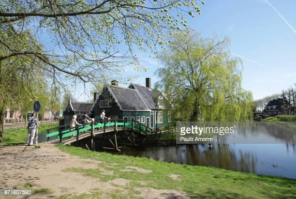 People Enjoying at Zaans Schans in Netherlands