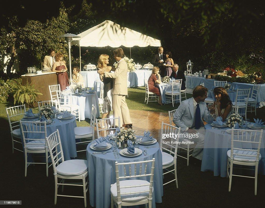 People enjoying buffet party : Stock Photo