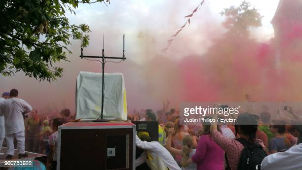People Enjoying Holi Outdoors
