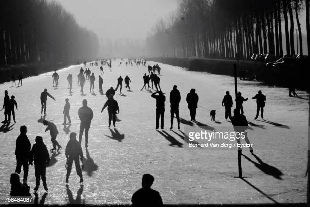 People Enjoying Ice-Skating