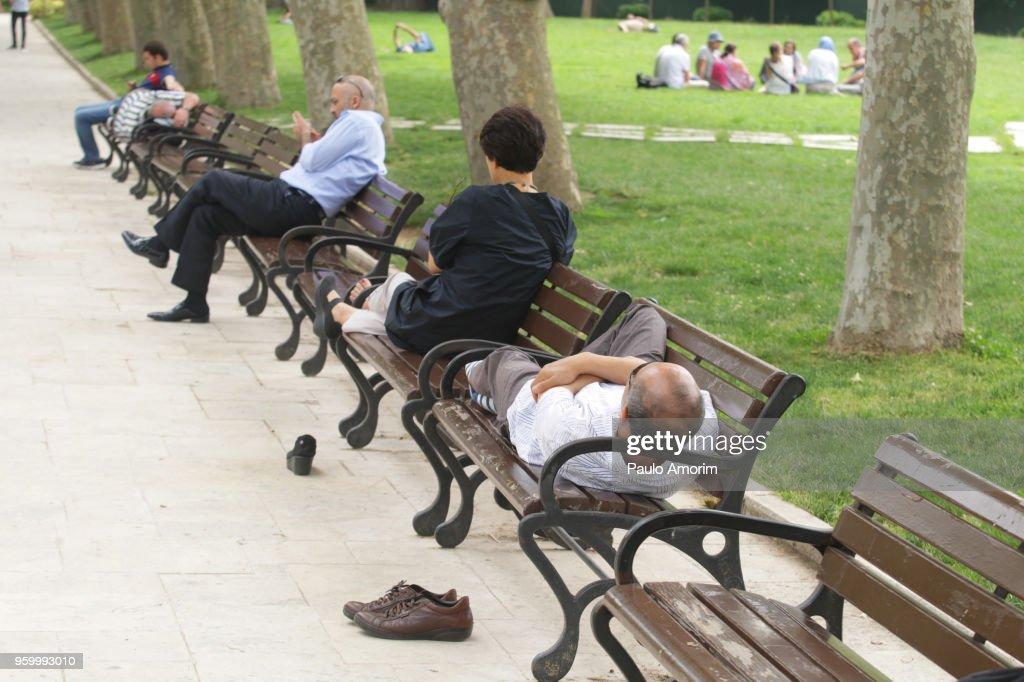 People Enjoying in Istanbul,Turkey : Stock Photo
