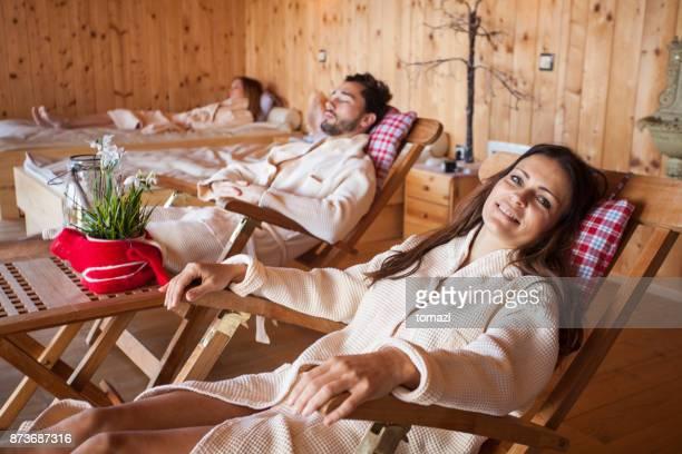 People enjoying in spa