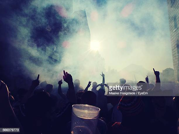 people enjoying music concert - kreuzberg stock photos and pictures