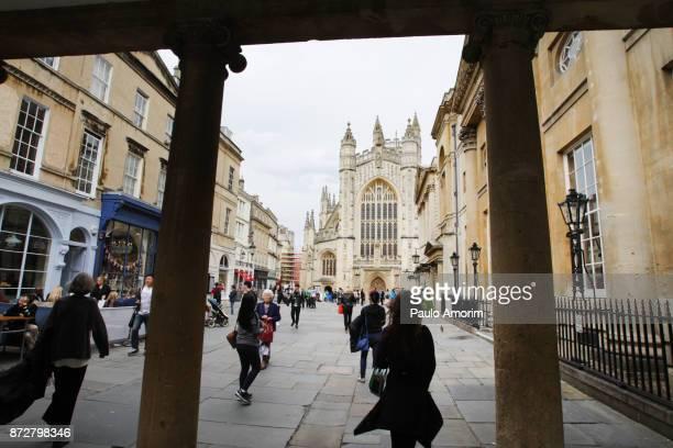 People enjoying on the street in Bath,England