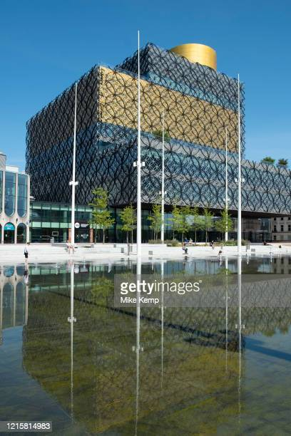 People enjoying the fountains in Centenary Square in front of the Library of Birmingham as the Coronavirus lockdown continues, the city centre is...