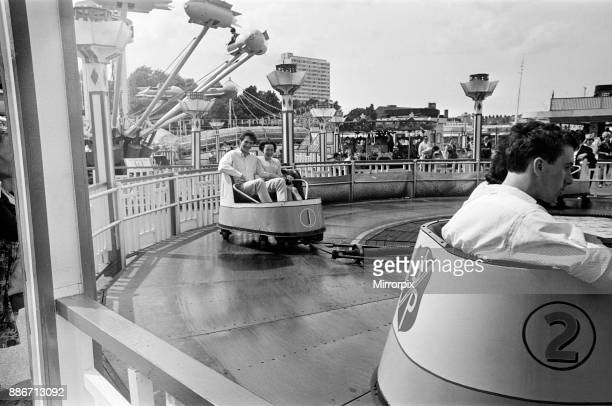 People enjoying the rides at Dreamland amusement park in Margate Kent 14th July 1966