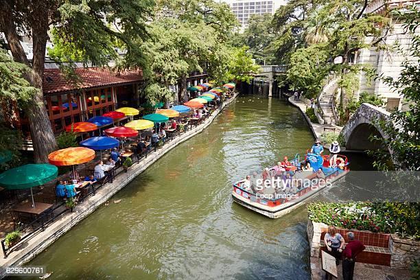People enjoying the River Walk San Antonio USA