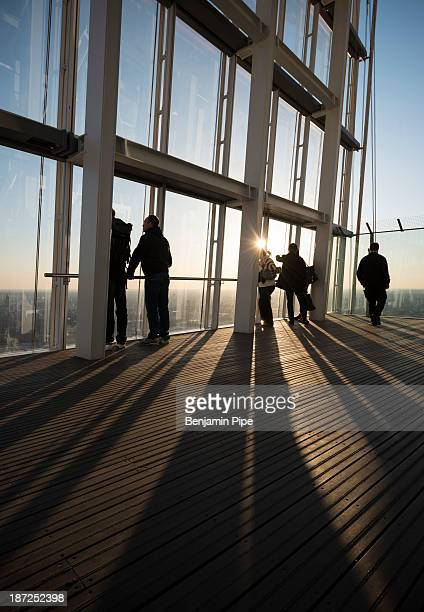 People enjoying The View from The Shard Skyscraper, London, England