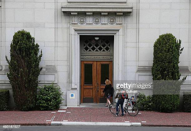 People enter California Hall on the UC Berkeley campus on May 22 2014 in Berkeley California According to the Academic Ranking of World Universities...
