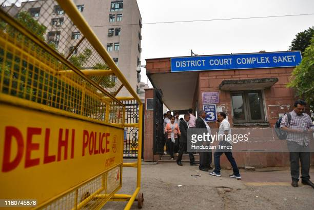 People enter the District court complex Saket as it was opened for the public today on November 7 2019 in New Delhi India