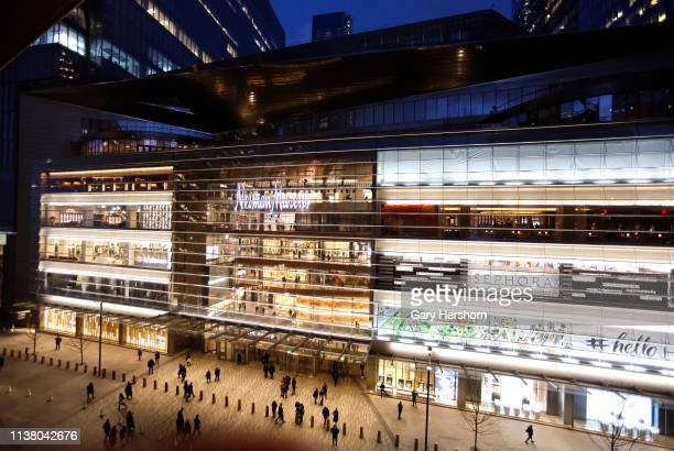 People enter The Shops at Hudson Yards on March 18, 2019 in New York City.