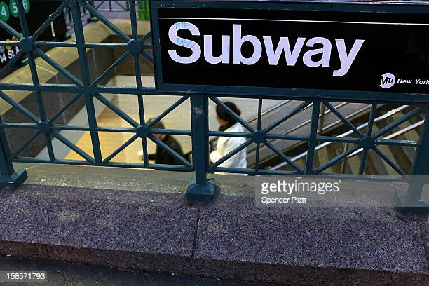 People enter the subway at Union Square on December 19 2012 in New York City Following the recommendation of outgoing Chairman Joseph Lhota the...
